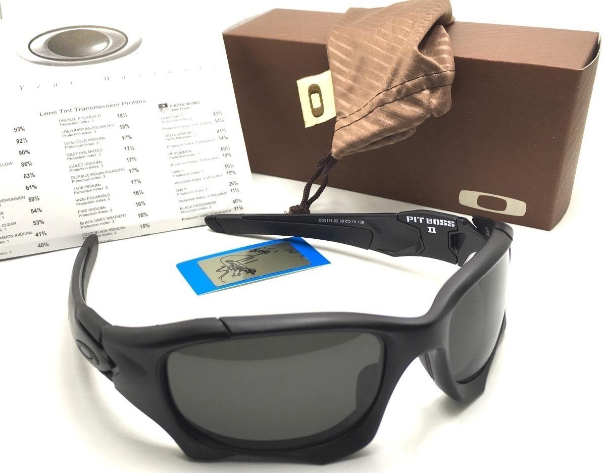 05c72af83 oculos oakley pit boss 2 xmetal lente black elite polarizada. Carregando  zoom.