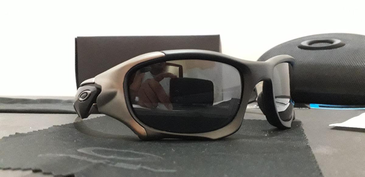 4b5908755 óculos oakley pit boss ii preto/grafite escuro polarizado. Carregando zoom.