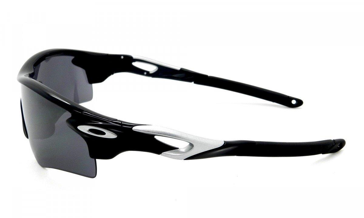 6964bd242 óculos oakley radarlock 9181-19/ black iridium/vr28-2 lentes. 10 Fotos