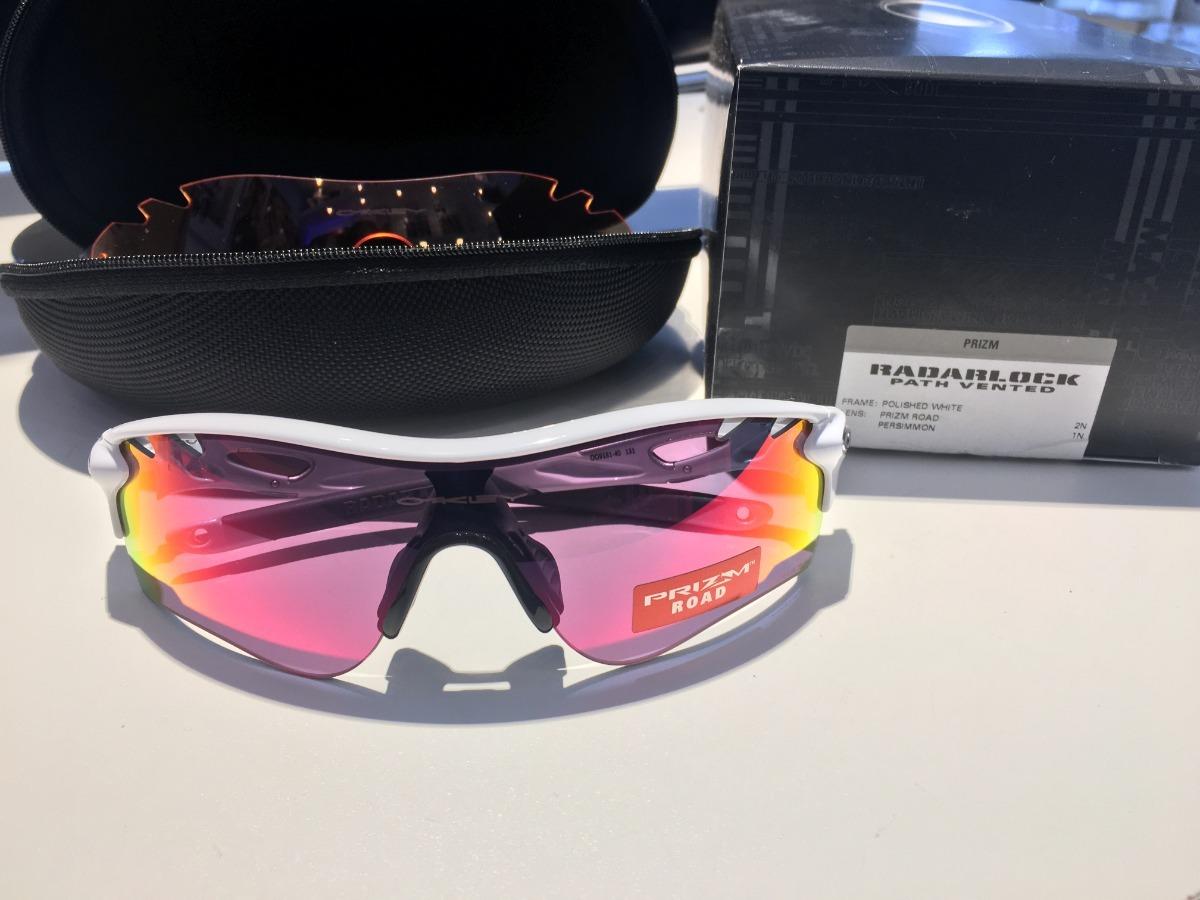 óculos oakley radarlock path white prizm road e duas lentes. Carregando  zoom. c693924e71