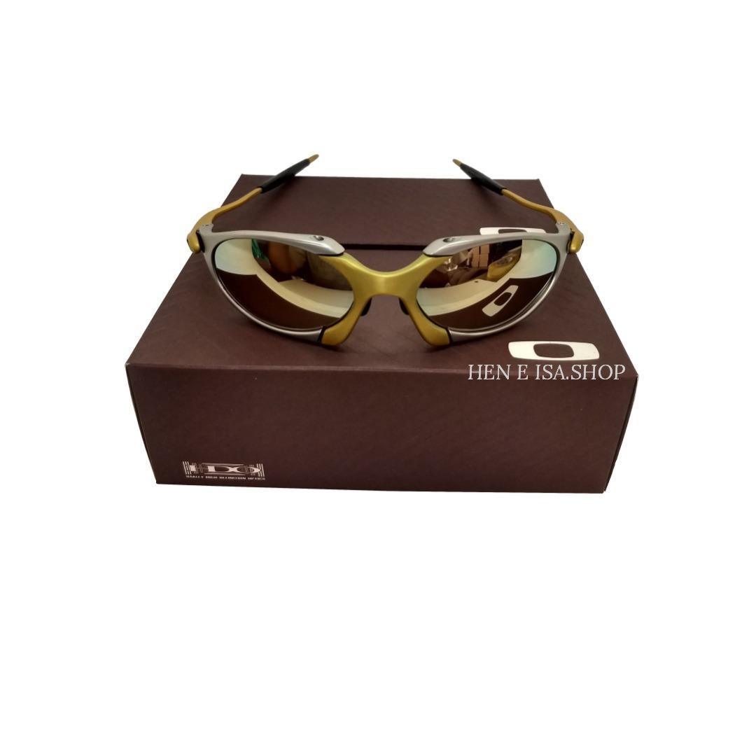 43c5815362afa Oculos Oakley Romeo 1 24k Dourada + Certificado+teste - R  85,00 em ...