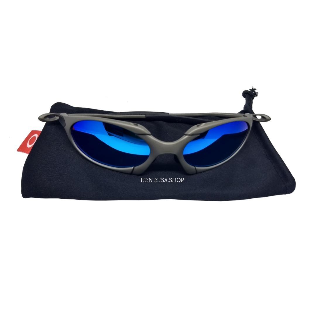 oculos oakley romeo 1 azul bebê + certificado+teste+frete. Carregando zoom. 53669f5771