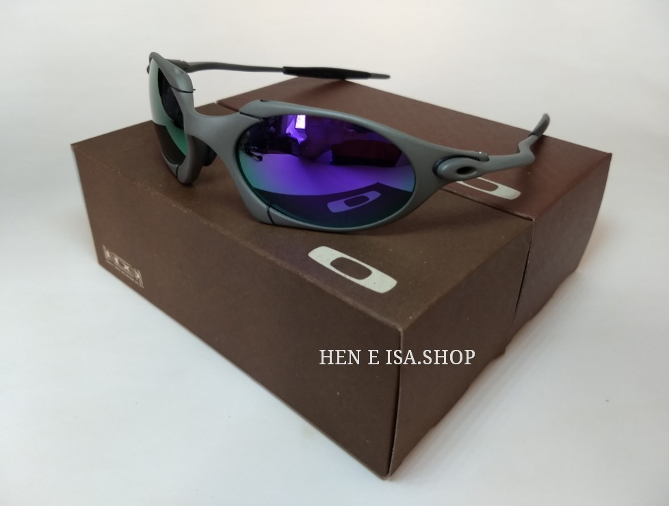 f95020eeb Oculos Oakley Romeo 1 Roxa + Chaves+teste+frete 12x S/juros - R$ 120 ...