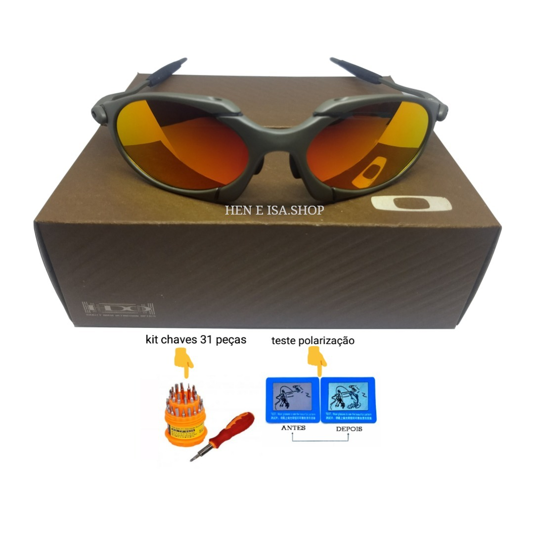 Oculos Oakley Romeo 1 Ruby +teste+chaves+certificado 12x S j - R  95 ... f1a40cdddf