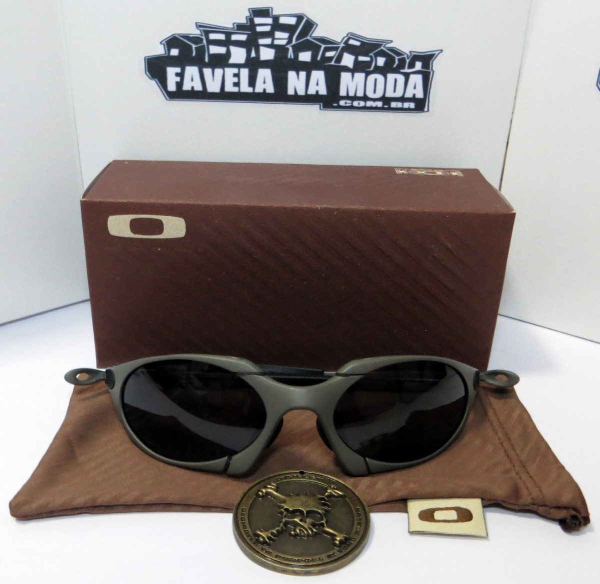 07d0080450f47 óculos oakley romeo 1   xmetal   black + par de lentes extra. Carregando  zoom.