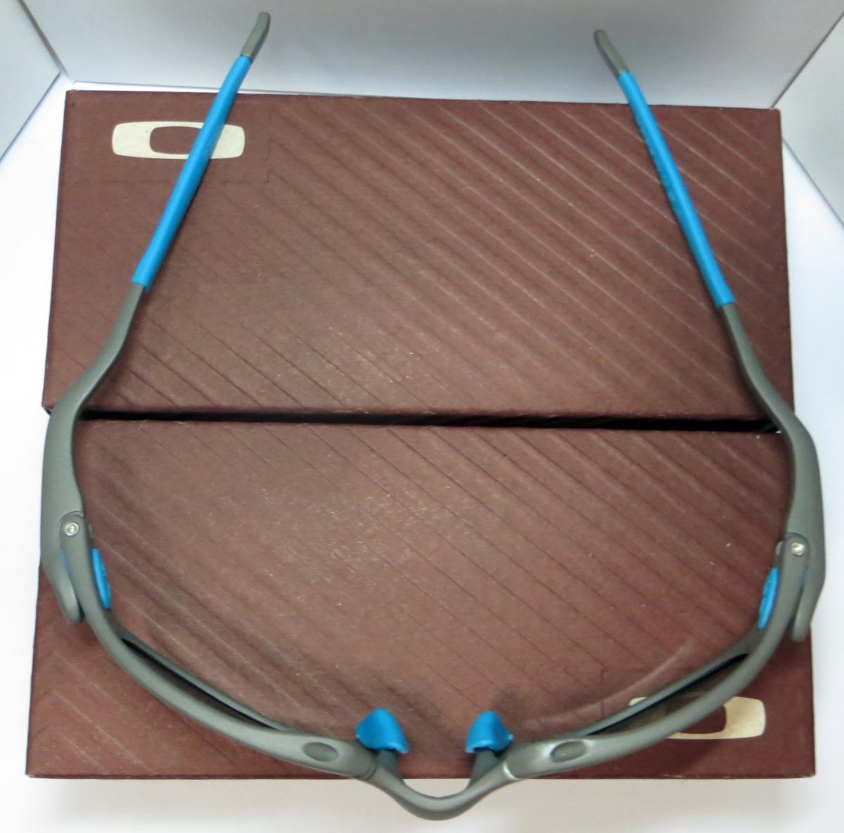 ef8f3965fffb3 óculos oakley romeo 1   xmetal   blue neon + par de lentes. Carregando zoom.