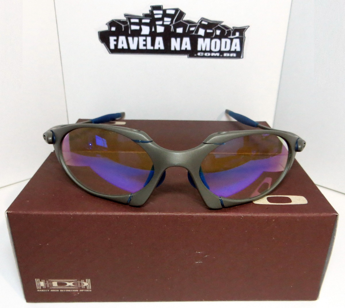 óculos oakley romeo 1   xmetal   clear azul + par de lentes. Carregando  zoom. 87c9b99729