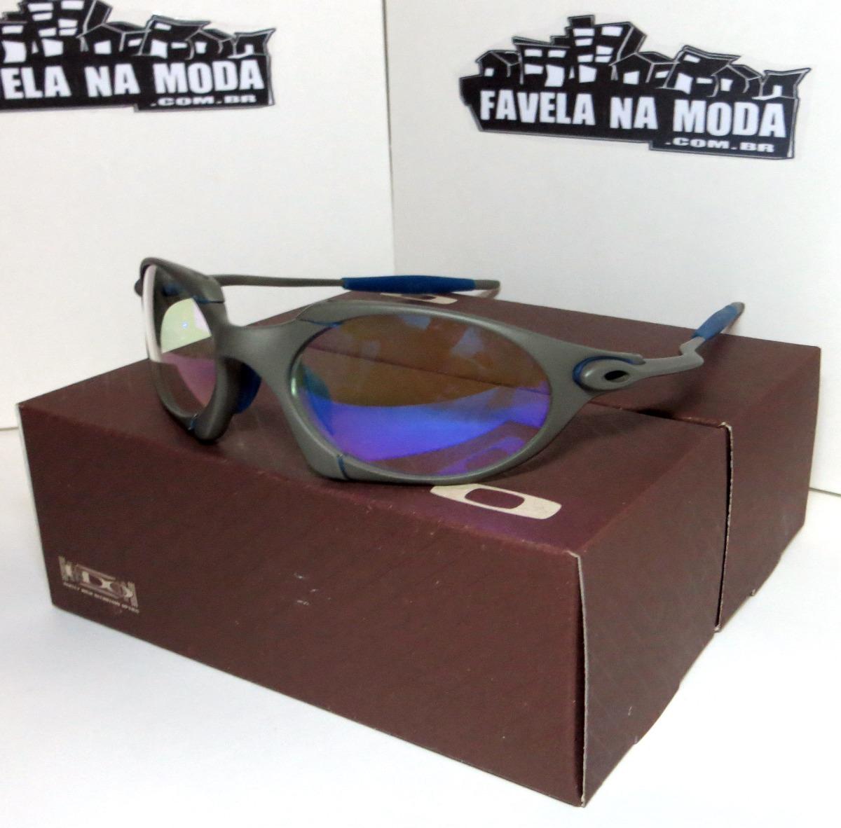 abc506161dd36 óculos oakley romeo 1   xmetal   clear azul + par de lentes. Carregando  zoom.