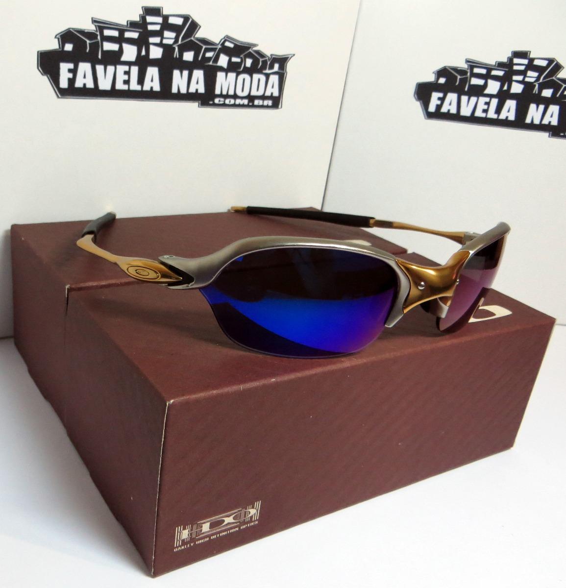 9ecd4d85299b7 óculos oakley romeo 2   24k   magic blue + par de lentes. Carregando zoom.