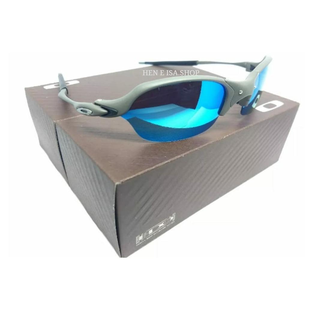 75e1b7b28f6de Oculos Oakley Romeo 2 Azul Bebe Teste+certificado 12x - R  89,00 em ...