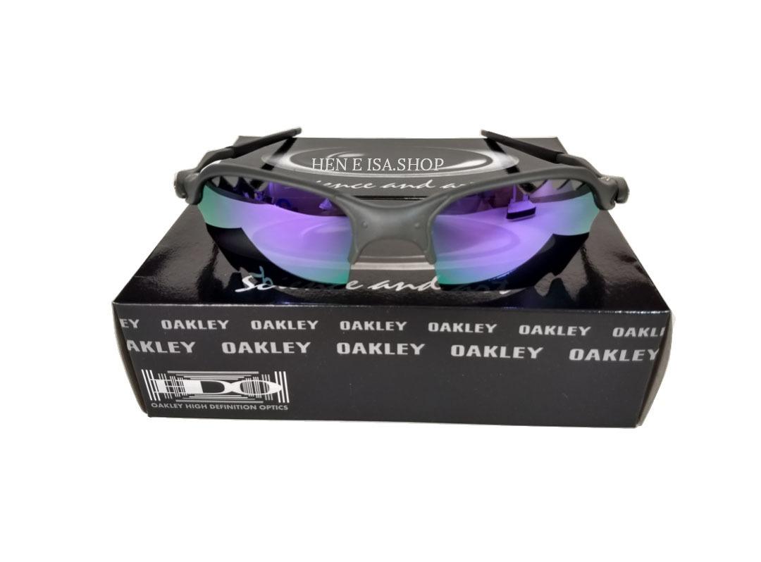 516ce55d77012 oculos oakley romeo 2 parriot roxa + caixa + saquinho oakley. Carregando  zoom.