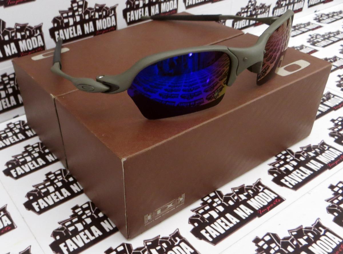 2ade7dbf7544a óculos oakley romeo 2   xmetal   magic blue + par de lentes. Carregando  zoom.