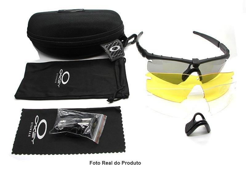 e1367dfb2 Óculos Oakley Si M Frame 2.0 Preto Airsoft Militar 3 Lentes - R$ 295 ...