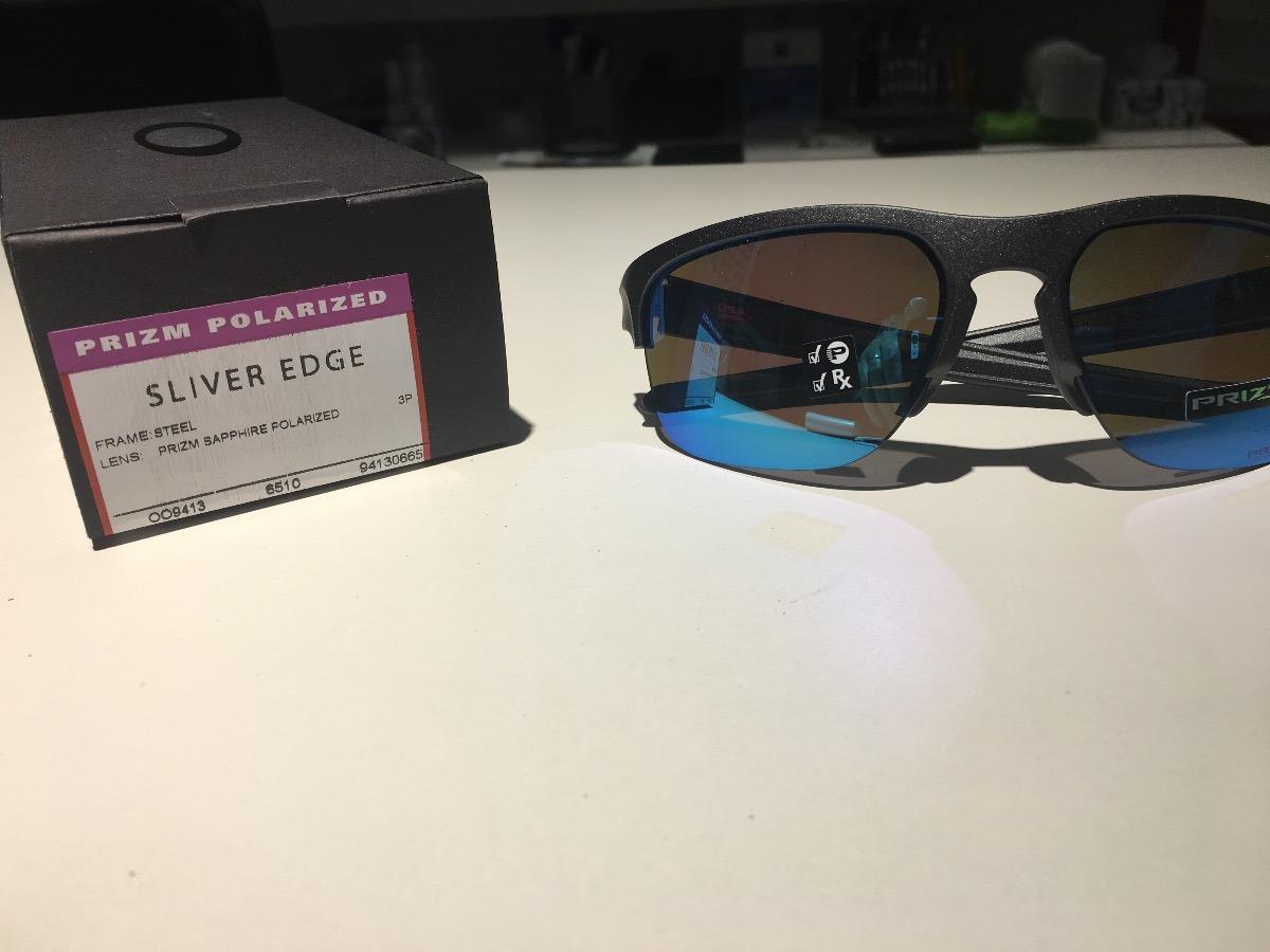 35ba65136e4f3 óculos oakley sliver edge lente prizm sapphire polarizada. Carregando zoom.