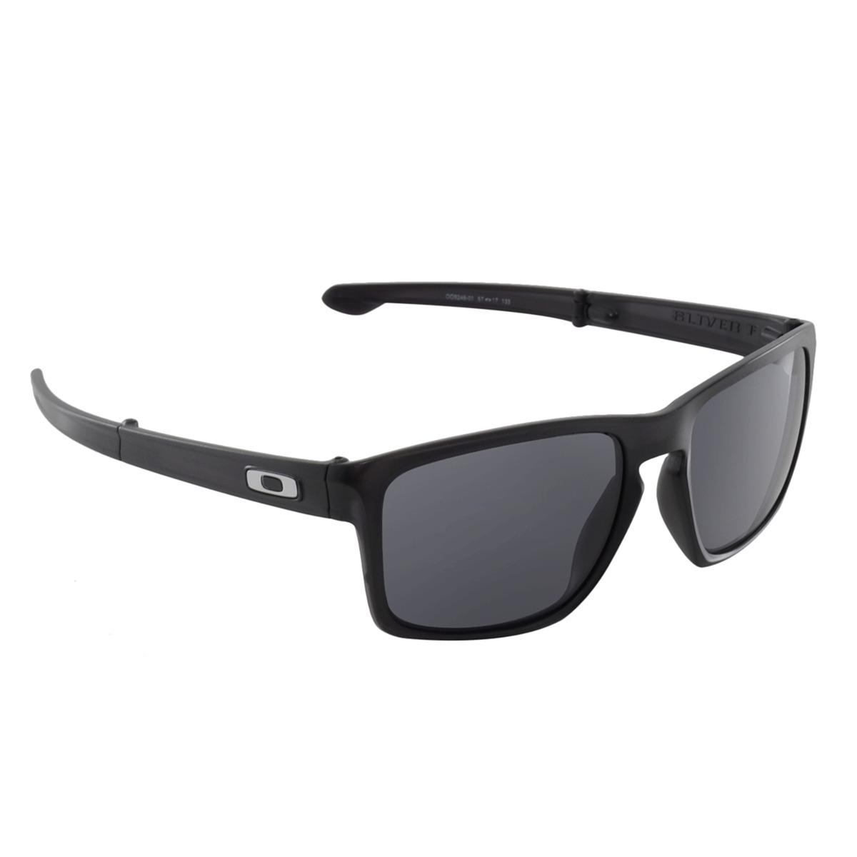 389d1a5ef799a Óculos Oakley Sliver F Matte Black - R  448,00 em Mercado Livre