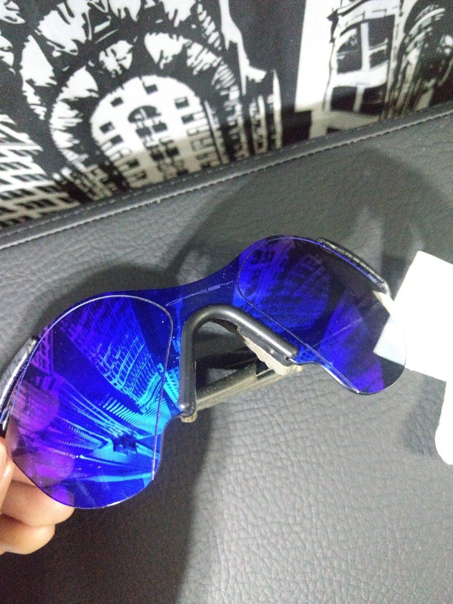 f3def1a1b87 óculos oakley subzero planet x   blue iridium case vintage. Carregando zoom.
