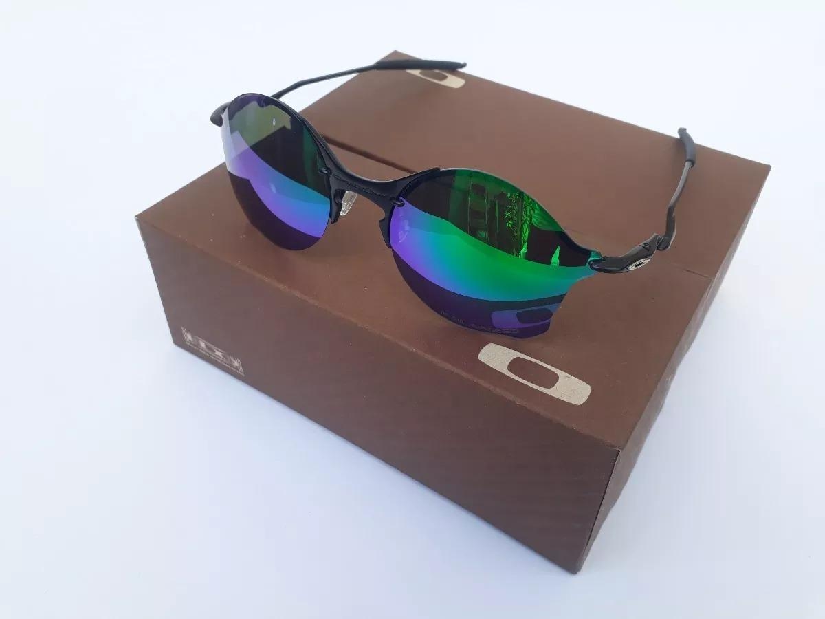 ec6d3d493d13a óculos oakley tailend lentes verde + certificado. Carregando zoom.