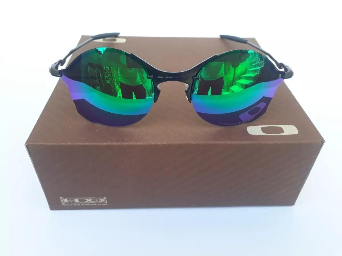 829b198d7214b óculos oakley tailend verde + certificado + cartão teste. Carregando zoom.