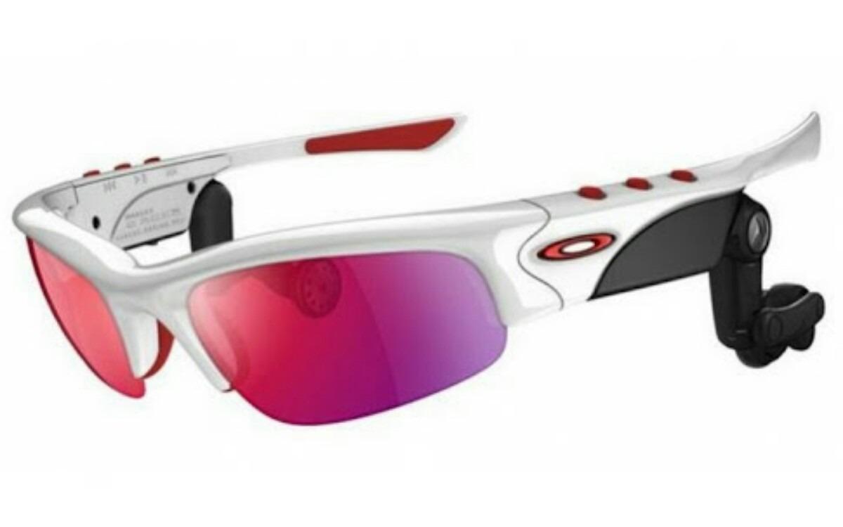 oculos oakley thump pro bluetooth - branco   positive red. Carregando zoom. c1d949ce45
