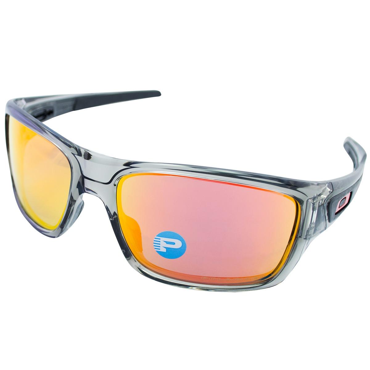 08981bc86 óculos oakley turbine grey ink w/ruby iridium polarizado. Carregando zoom.