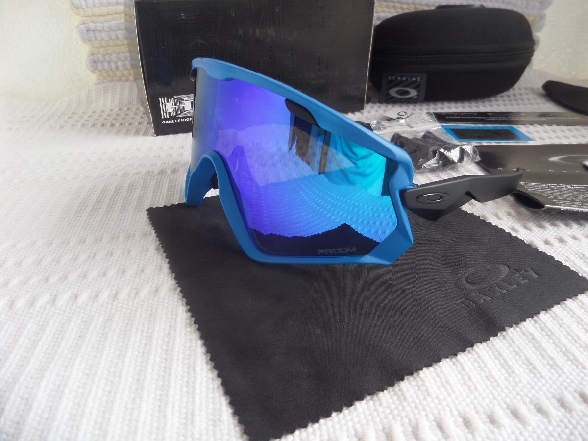 73fdd478e213f Óculos Oakley Wind Jacket 2.0 Preto C  Lente Blue Prizm - R  389,00 ...