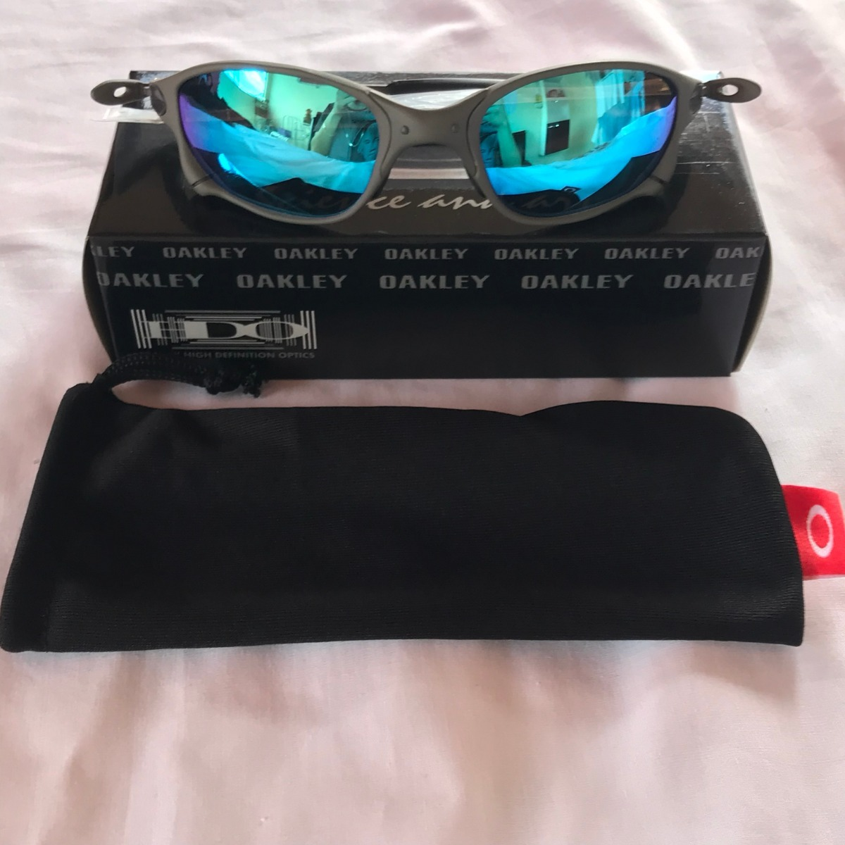 28eb5f643 óculos oakley x metal double x 24k lentes azul juliet lupa. Carregando zoom.