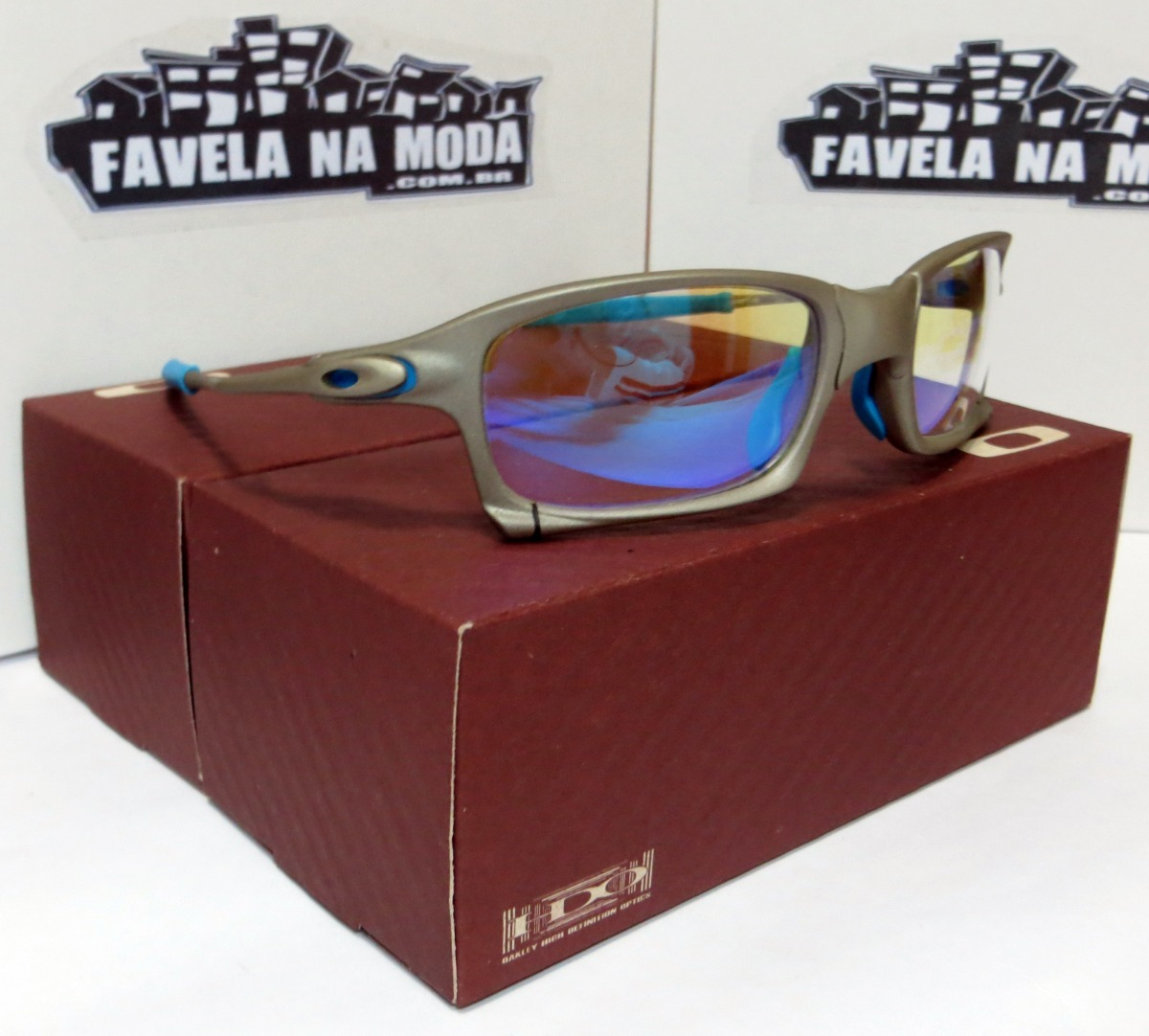 1c33ebd64c372 óculos oakley x-squared (clear azul) + caixa + lentes+brinde. Carregando  zoom.