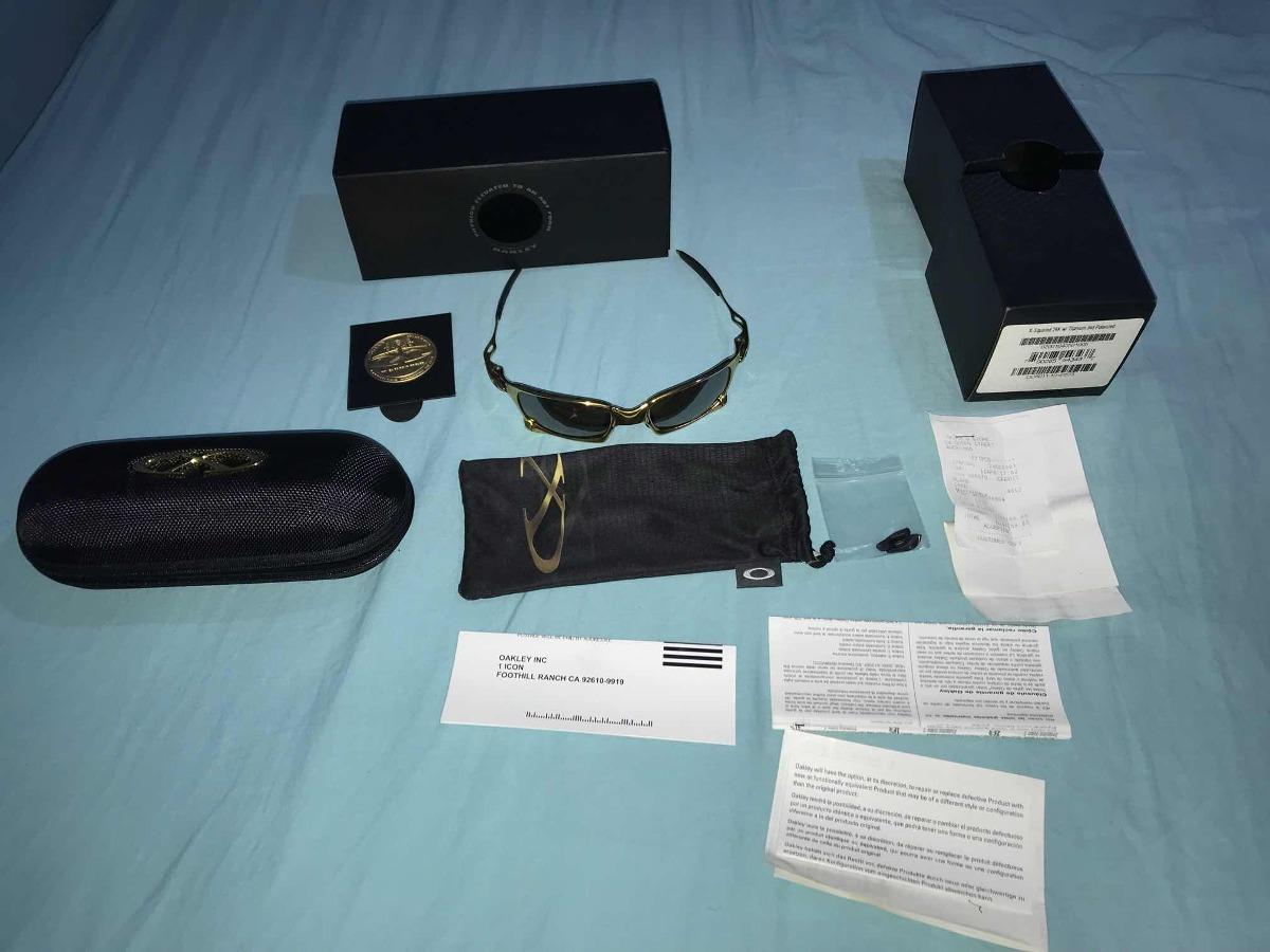 8c2f8f41f6 Óculos Oakley X-squared Gold 24k Edição Limitada - R  5.999