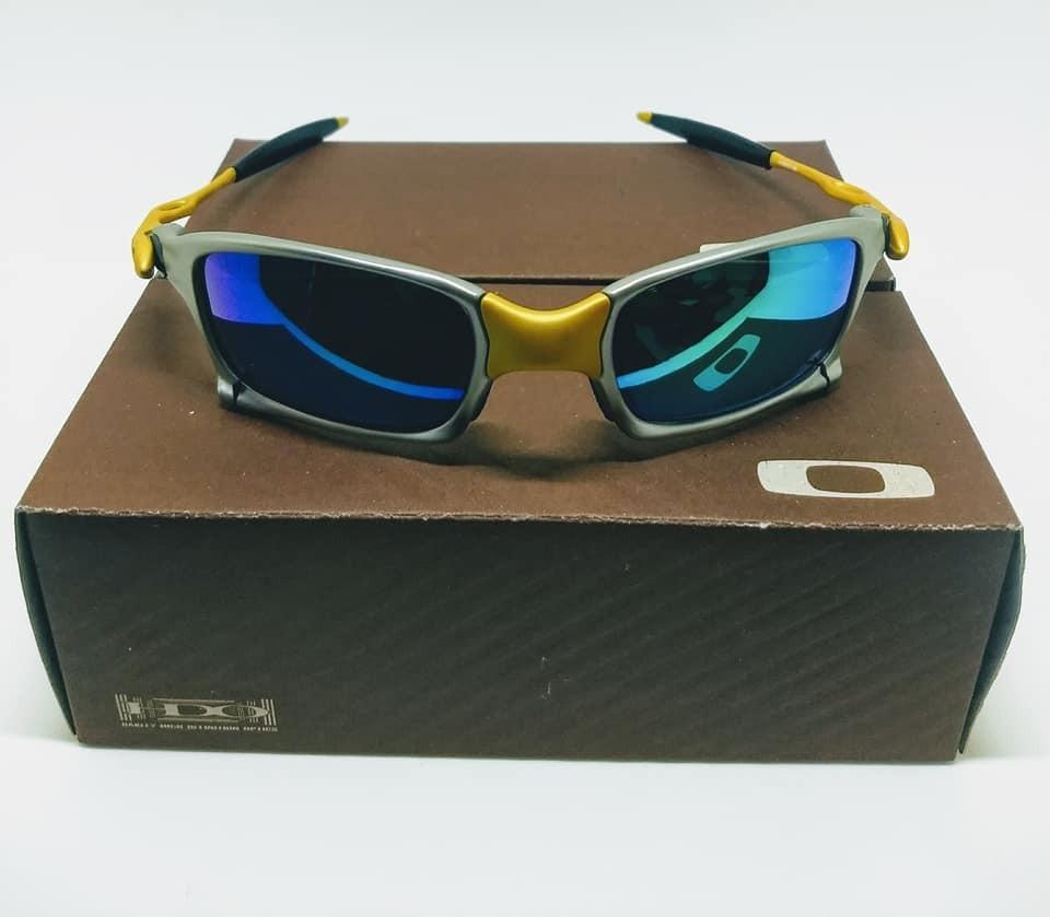 famoso marchio di stilisti assolutamente alla moda di prim'ordine Óculos Oakley X-squared X-metal 24k Azul - R$ 100,10 em Mercado Livre