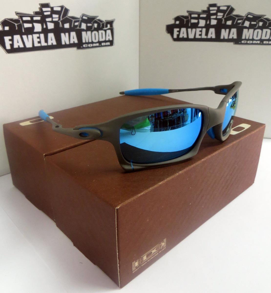 óculos oakley xsquared   xmetal   ice thug  azul bebê+ lente. Carregando  zoom. 737ba199d0