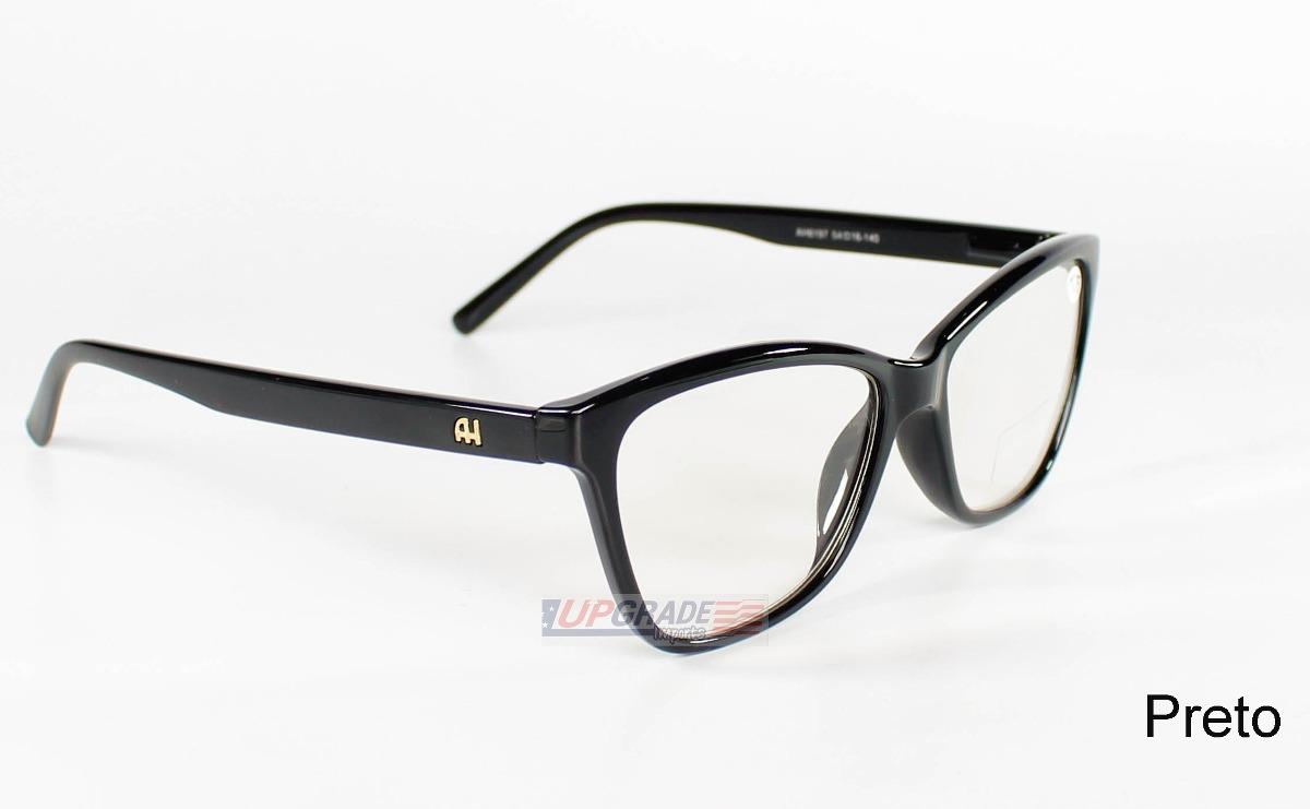 7f809d537 Armação Oculos Grau Ana Hickman Ah6197 Óculos Barato Acetato - R$ 57,99 em  Mercado Livre