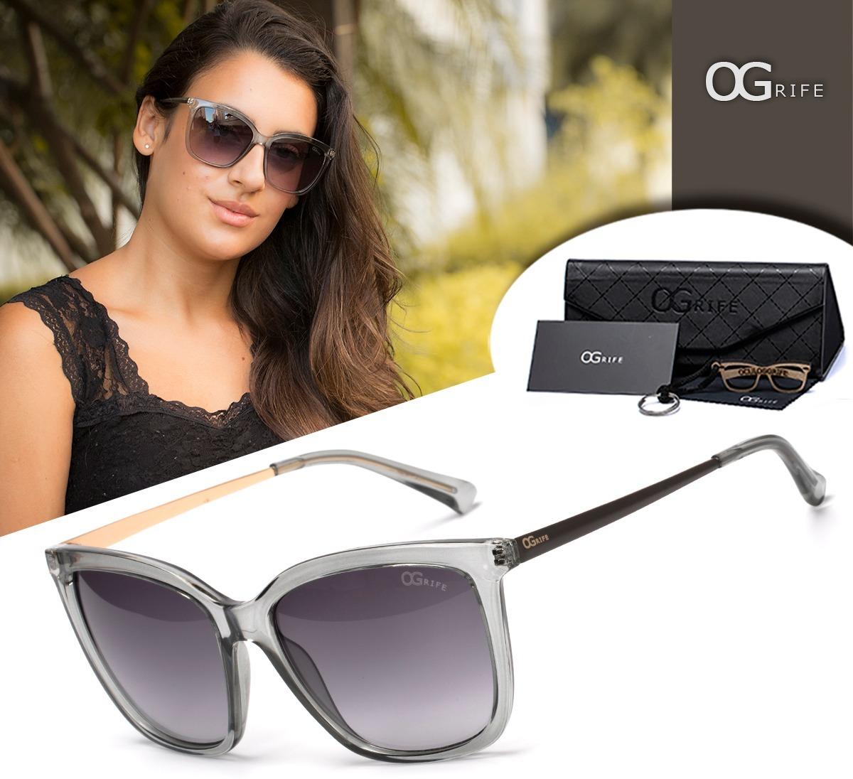 Oculos Ogrife Solar Feminino Og 1141-c Proteção Uv Original - R  90 ... 9f299e17fe