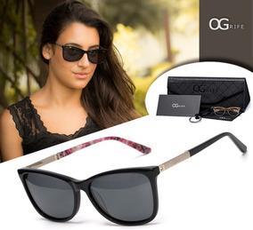 3f510ea97 Oculos Sol Feminino Preto E Prata - Óculos no Mercado Livre Brasil