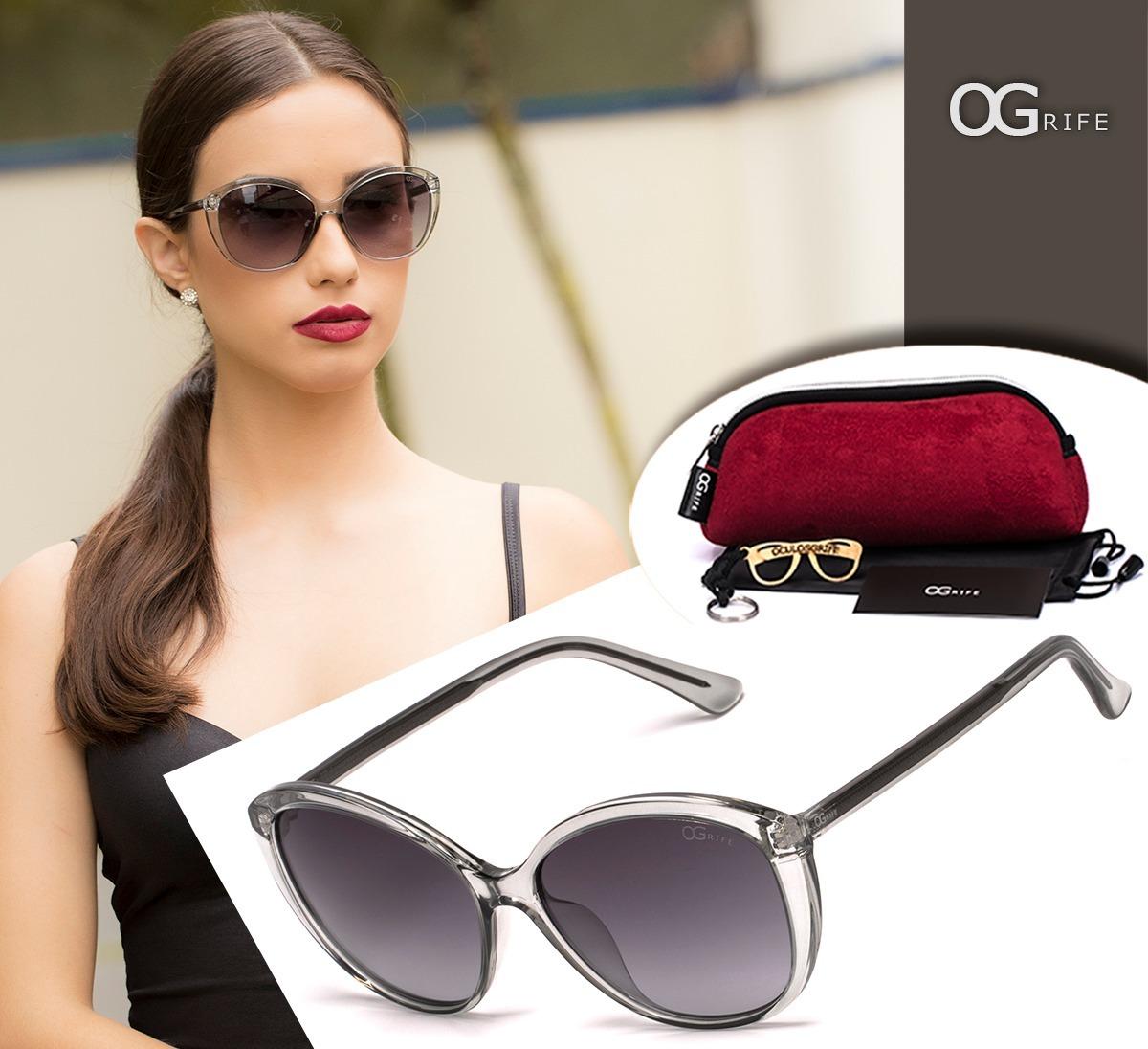 c5014a0e7 Oculos Ogrife Solar Feminino Og 1431-d Polarizado Original - R$ 90 ...