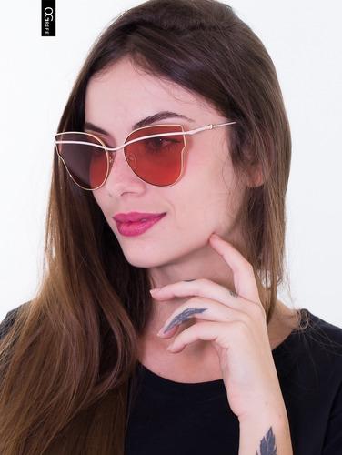 oculos ogrife solar feminino og 1574-c proteção uv original