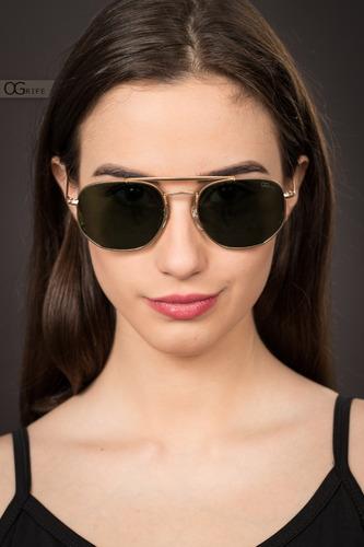 oculos ogrife solar feminino og 1584-c polarizado original