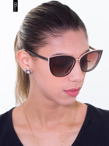 oculos ogrife solar feminino og 1614-c proteção uv original