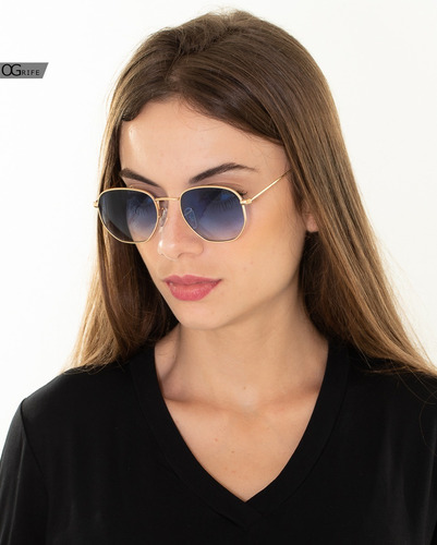 oculos ogrife solar feminino og 1616-c proteção uv original