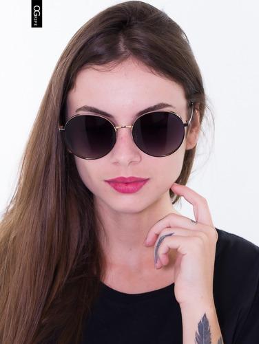 oculos ogrife solar feminino og 1631-c tamanho g original