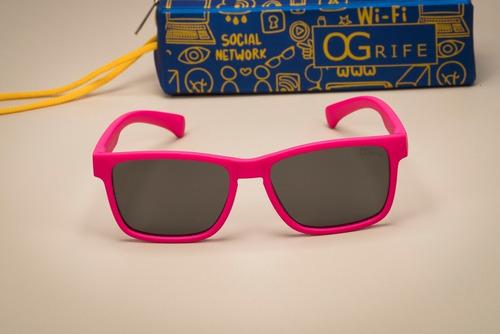 oculos ogrife solar infantil og 1732-c flexível polarizado