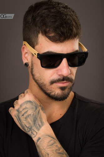 oculos ogrife solar masculino og 1387-c proteção uv original