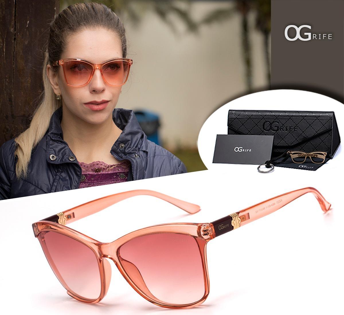 9ff1447057e04 Oculos Ogrife Solar Og 1046-c Feminino Proteção Uv Original - R  90 ...