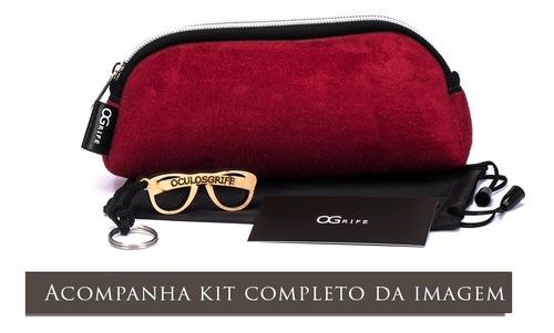 oculos ogrife solar og 1303-c feminino proteção uv original