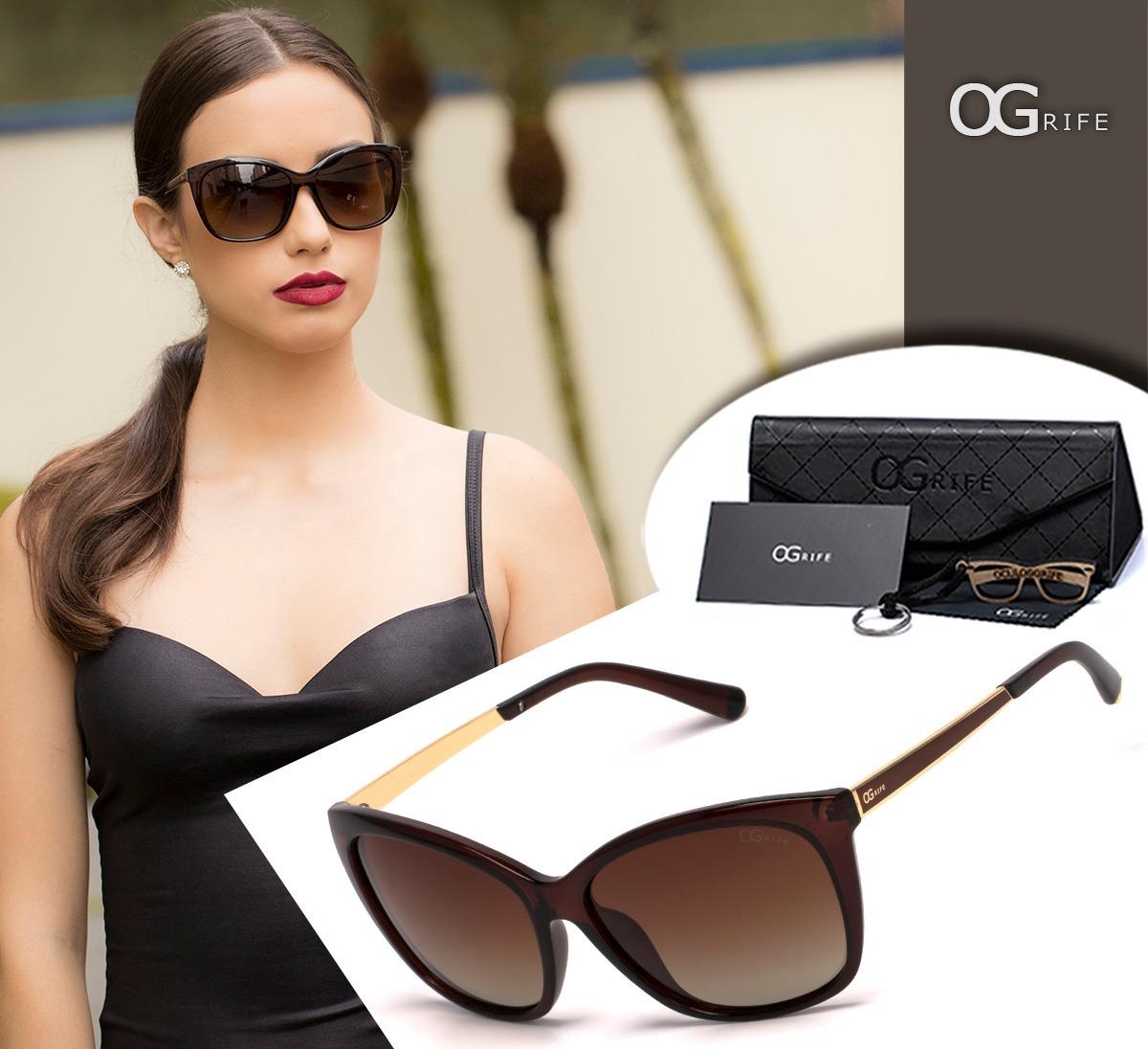 442d9e8d6 Oculos Ogrife Solar Og 1411-c Feminino Polarizado Original - R$ 90 ...