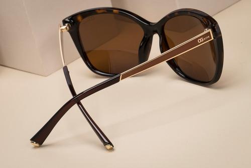 oculos ogrife solar og 1415-c feminino polarizado original