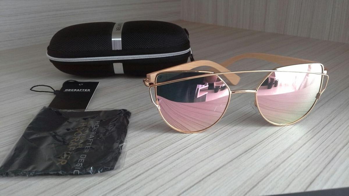 5dda786698ea3 oculos originais da marca hd crafter detalhes em madeira. Carregando zoom.