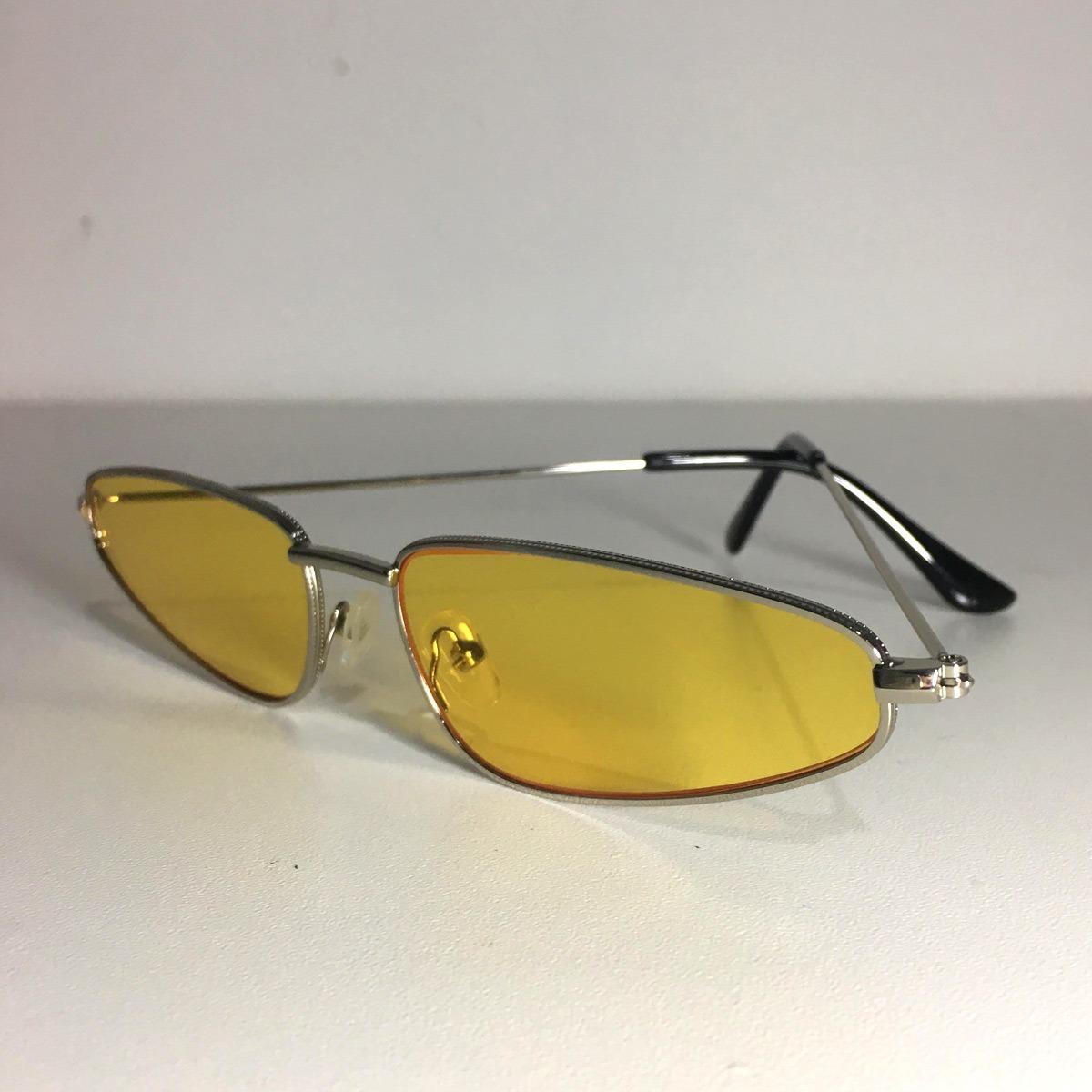 fd53329831540 Óculos Oval De Sol Style Retro Amarelo Estiloso - R  69,99 em ...