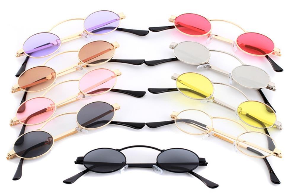 08ae7ca44 óculos oval pequeno retrô redondo proteção uv400 vintage sol. Carregando  zoom.
