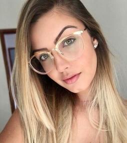 62f7b0711 Oculos Da Moda Feminino Transparente De Grau - Óculos no Mercado ...