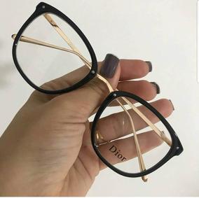 1c0a2e117 Óculos P/ Grau Feminino Armação Moda Blogueira Preta Brinde